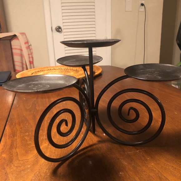 ***SOLD*** Partylite Viking centerpiece candle holder